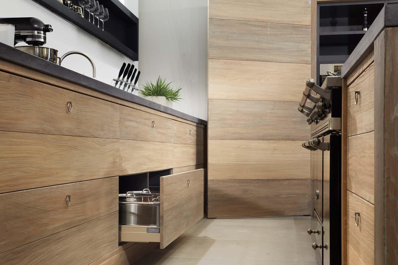 Houten keukenlade