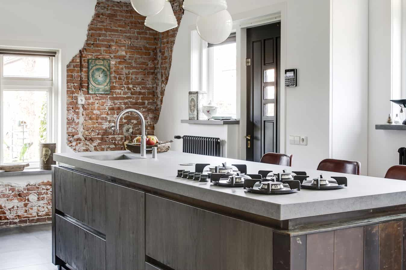 Moderne keuken oud huis