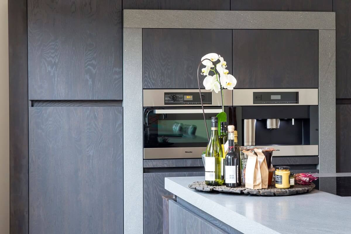Strakke keuken natuursteen