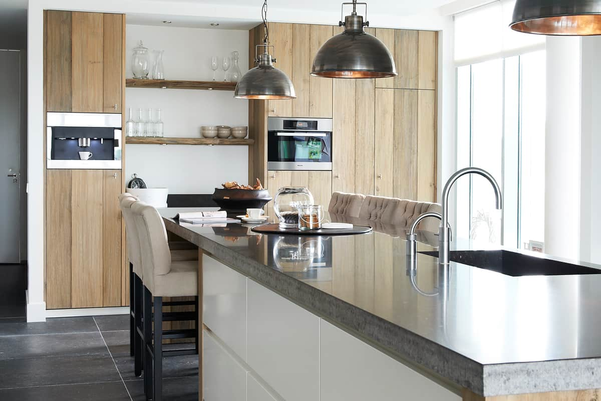 Tijdloze keuken hout