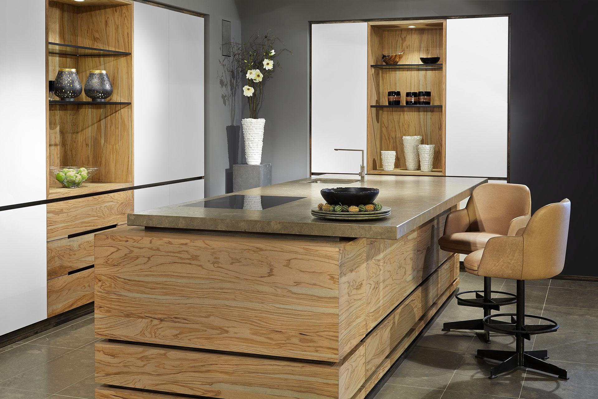 Olijfhout Keuken Tinello Keuken Interieur
